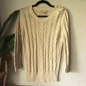 Banana Republic Cable Knit Button Sweater